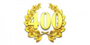 400 fourhundred number laurel wreath